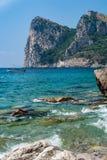 Halny Punta Campanella blisko Sorrento, fotografia stock
