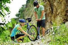 halny roweru kłopot obrazy stock