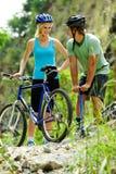 halny roweru kłopot fotografia royalty free