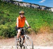 Halny rowerzysta zdjęcia stock