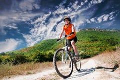 Halny rowerzysta zdjęcie stock