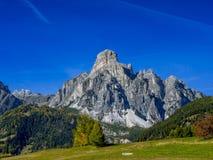 Halny Sassongher, Corvara, Południowy Tyrol, Włochy Fotografia Stock