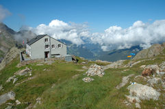 Halny schronisko niedaleki Grindelwald w Szwajcaria Obraz Royalty Free