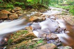 Halny strumień pełno kamienie Zdjęcia Stock