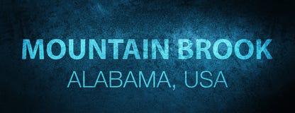 Halny strumyk alabama USA sztandaru specjalny błękitny tło ilustracji