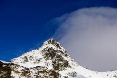Halny szczyt Zdjęcie Stock