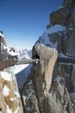 Halny szczyt Aiguille du Midi, Francja obrazy stock