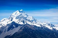 Halny szczyt. Góra Cook. Nowa Zelandia Obraz Stock