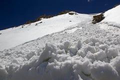 Halny szczyt przy Khardung przepustką, Ladakh, India Zdjęcie Royalty Free