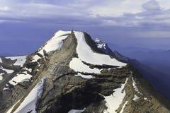 Halny szczyt w lodowa park narodowy Obrazy Royalty Free