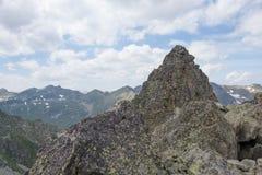 Halny szczyt w Pyrenees Obraz Stock