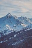 Halny szczyt w zimie Zdjęcia Stock