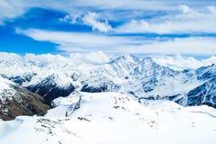 Halny tło, Elbrus, Kaukaz Zdjęcie Royalty Free