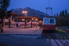Halny tramwaj w Tatry górach fotografia stock