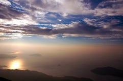 halny wschód słońca Obrazy Royalty Free