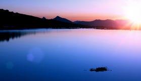 halny wschód słońca Zdjęcia Royalty Free