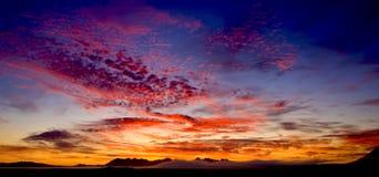 halny wschód słońca Zdjęcie Royalty Free