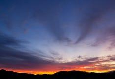 halny wschód słońca Zdjęcie Stock