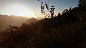 Halny wschodu słońca widok zdjęcie royalty free
