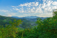 Halny wzgórze krajobraz Obraz Stock