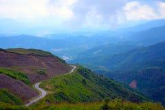 Halny wzgórze w Laos obraz stock