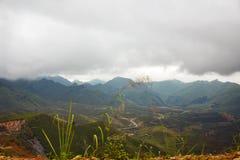 Halny wzgórze w Laos zdjęcia royalty free