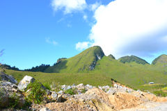 Halny wzgórze w Laos fotografia stock