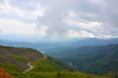 Halny wzgórze w Laos Zdjęcie Stock
