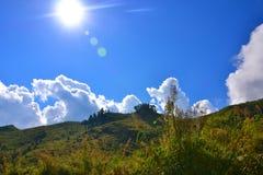 Halny wzgórze w Laos Zdjęcia Stock
