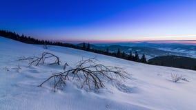 Halny zima krajobraz zdjęcie wideo