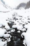 Halny zima krajobraz zdjęcia stock