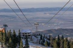 Halny zima krajobraz obrazy royalty free