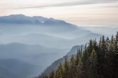Halny zima krajobraz obraz royalty free