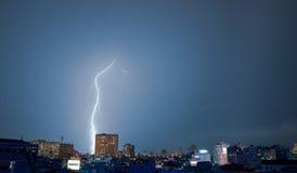 Halo Around the Lightning Stock Photography