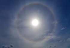 Halo around of the sun Stock Photography