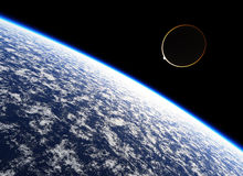 Halo. Atmosphere of the planet Earth Royalty Free Stock Image