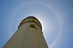 Halo on Cape Blanco Lighthouse Stock Photography