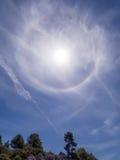 Halo colorido de Sun Imagem de Stock Royalty Free