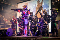 Halo Cosplay royalty free stock photography