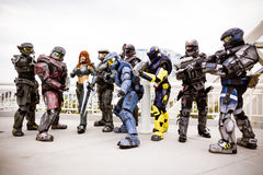 Halo cosplayers Stockbilder
