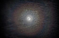 Halo de la luna Imágenes de archivo libres de regalías