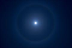 Halo de la luna Foto de archivo libre de regalías