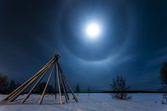 Halo de lune Photos libres de droits