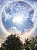 Halo de Sun images stock