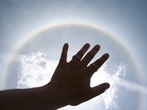 Halo de Sun Photographie stock libre de droits
