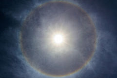 Halo de Sun Foto de Stock Royalty Free