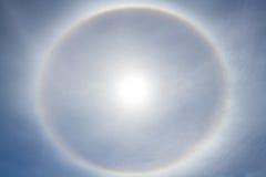Halo de Sun Fotos de archivo libres de regalías