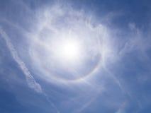 Halo de Sun Imágenes de archivo libres de regalías