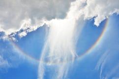 Halo de Sun Imagen de archivo libre de regalías