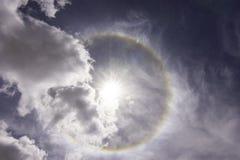 Halo de Sun au Thibet Photo libre de droits